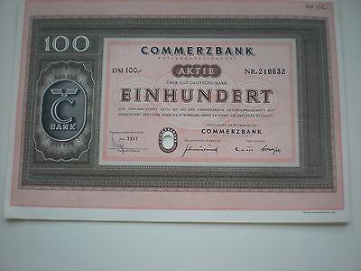 Deutschland -   5  x  Commerzbank AG  100  DM  1958    1/259-6