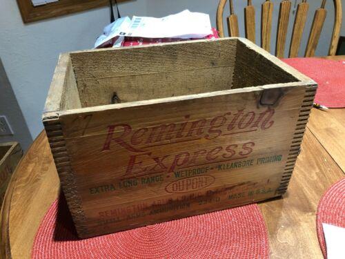 Vintage Remington Express 12ga. wooden box