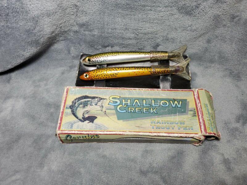 Vintage Xonex Genuine Shallow Creek Rainbow & Brown Trout Pens