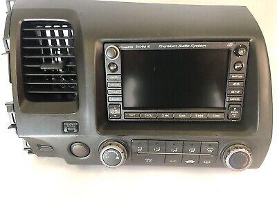 - ✅ 2006-2009 Honda Civic Navigation GPS Radio Touch Display Bezel OEM