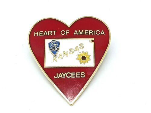 Vintage Jaycees Pin Kansas 1970
