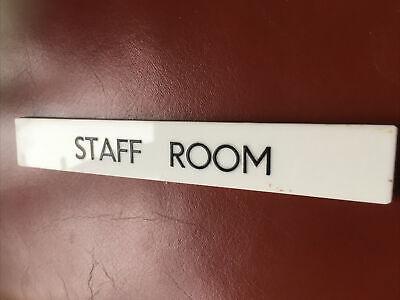 "Vintage Perspex  "" Staff Room "" Sign"