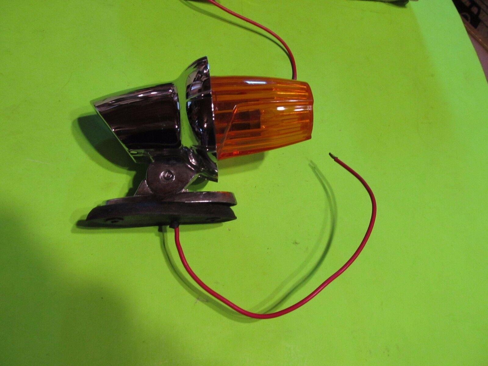 Vintage Signal Stat Clearance Cab Marker Light Lamp orange OR Red 1301 A NOS