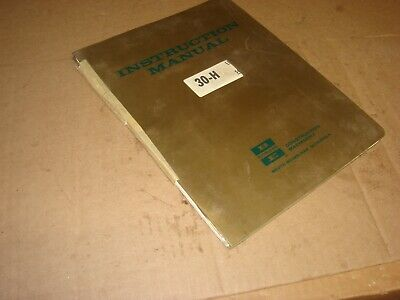 Oem Bucyrus-erie H-30 Hydraulic Excavator Crane Instruction Service Manual