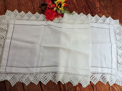 Antique/ Vintage runner with lace border