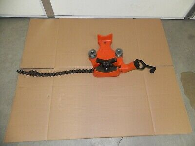 Ridgid 40215 Bc810 12 To 8 Top Screw Bench Chain Vise Rigid