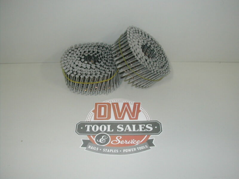 "2 "" Inch Coil Nails 15 Degree Ring Shank Hot Dip Galvanized (3,600)"