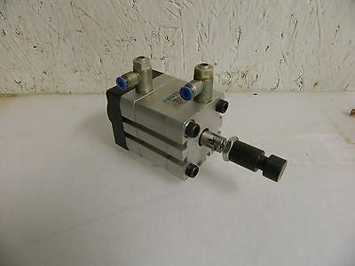 Festo Double Action Pneumatic Compact Cylinder, ADN-40-15-A-P-A-S2, 15mm Stroke