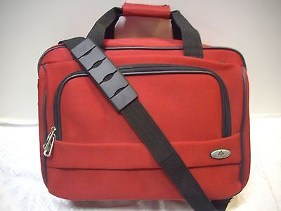 """VINTAGE AMERICAN AIRLINES AA RED FLIGHT TRAVEL CARRY-ON BAG LUGGAGE 16""""x 11""""x 7"""""""