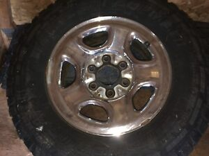 SET OF 4 TRUCK RIMS WITH TIRES