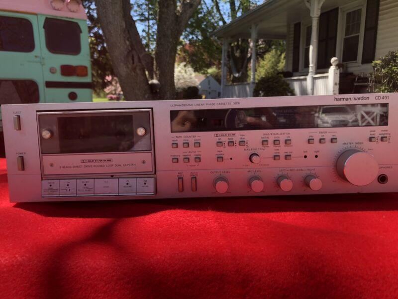 HARMON KARDON CD491 3-Head Cassette Deck Works - Great Condition, Needs Work