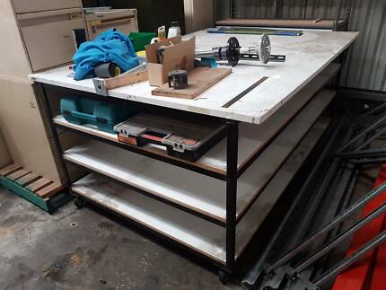 work benches , pallet racking , and pallets, starting from $50