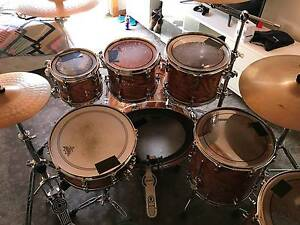 SONOR Ascent Birchwood 7pce Natural Lacquer Awesome Kit Balaclava Port Phillip Preview