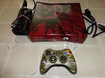 Microsoft Xbox 360 S Gears of War 3 Limited Edition 120GB Red & Black Console...