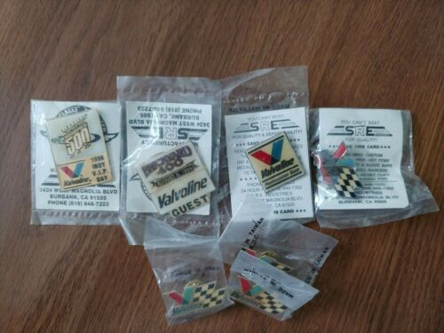Lot of (7) Vintage Valvoline Lapel Pins (Brickyard, Indy 500, Valvoline Racing +