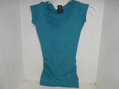 Wet Seal V Neck Top Teal Size Small Nwot