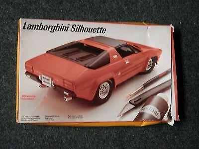 NIB Testors Lamborghini Silhouette 3000 1/24 Scale 5 model lot Monogram Fujimi