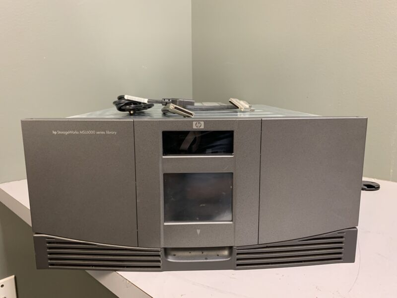 HP StorageWorks MSL6000 Tape Drive Library w/ Power Cord