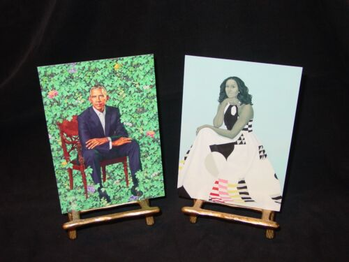 2018 BARACK & MICHELLE OBAMA SMITHSONIAN PORTRAITS SET OF 5X7 POSTCARDS