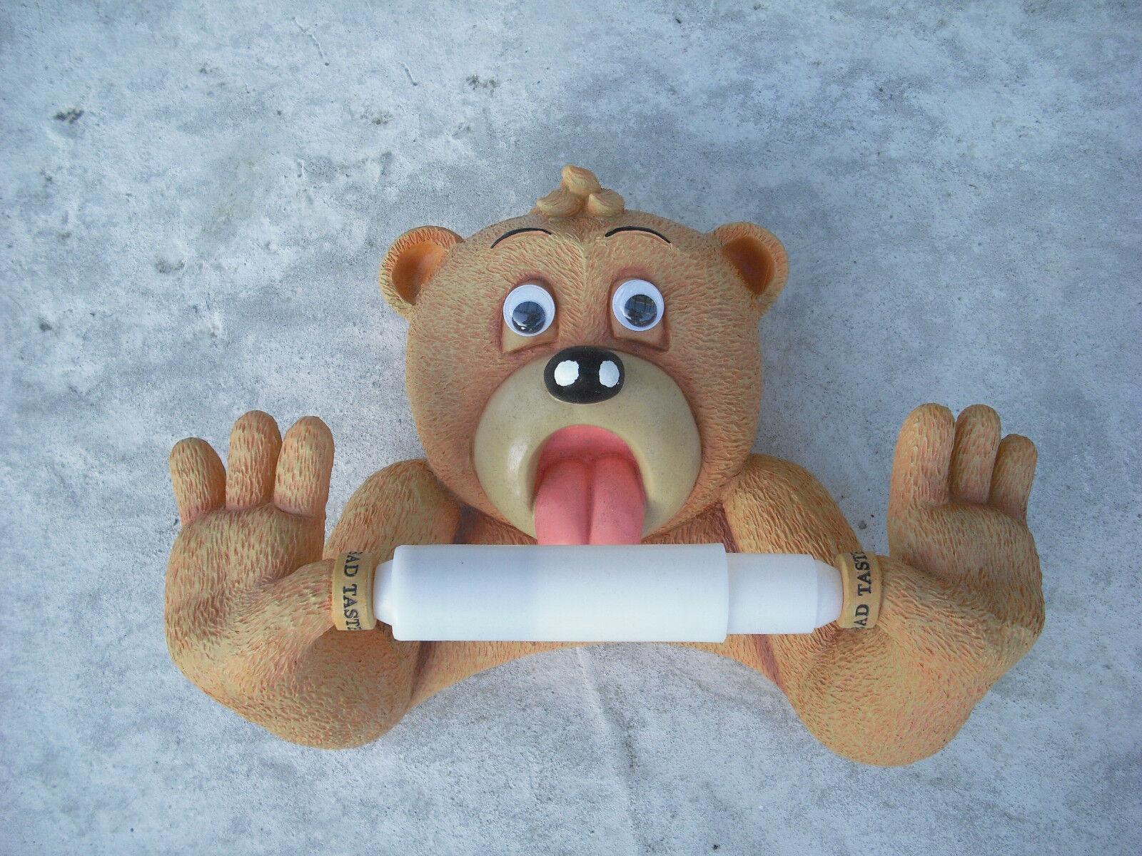 Toilettenpapierhalter, WC, Bad Taste Bear, lustiger Klopapierhalter