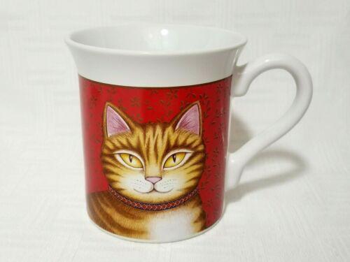 Hallmark CAT Coffee Cup Mug 8 oz 1987 Orange Tiger Striped Kitty