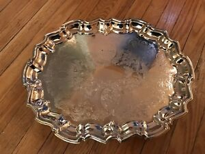 Antique Eales 1779 Silver Plated Footed Tray