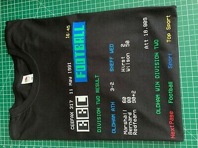 Retro Ceefax football result t shirt