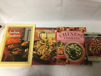 4x Chinese and Indian Recipe Books Best of Indian Cookery Chinese Cooking