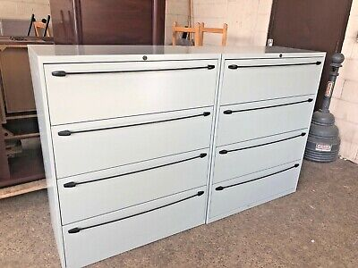 4dr 36w X 18d X 45h Lateral File Cabinet By Office Specialty W Lock Key