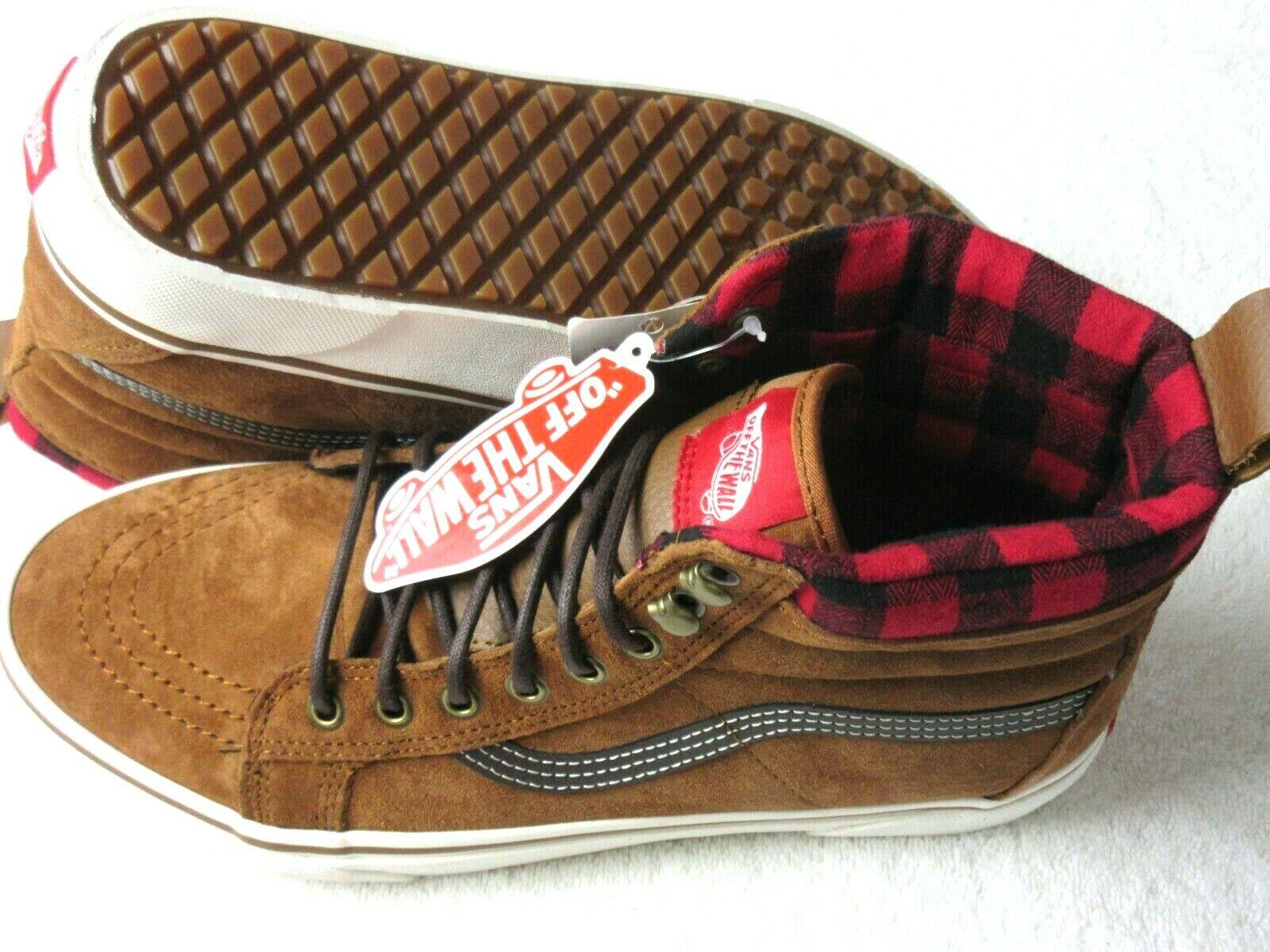 Vans Mens Sk8-Hi MTE Glazed Ginger Brown Marshmallow Skate s