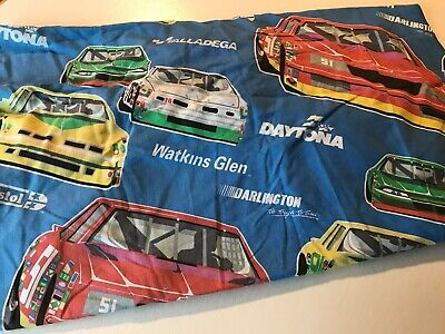 Vintage Nascar Twin Fitted Bed Sheet by -