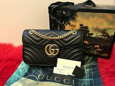 Gucci GG Marmont Matelasse - Small Size - Black Leather