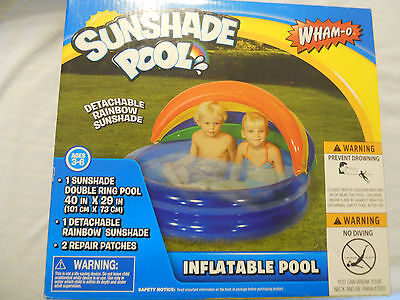 Wham-O Sunshade Inflatable Swimming Pool Children Toddlers Ages 3-6 Years NEW