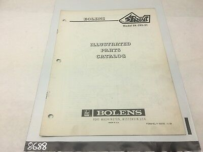 Bolens Snowmobile 1970 Sprint SR-295-01 Illustrated Parts Catalog