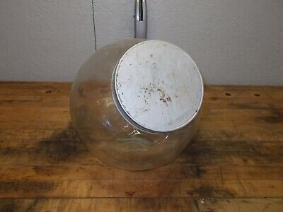VTG GENERAL STORE CANDY COUNTER JAR WITH LID ANGLED OR UPRIGHT