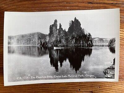 The Phantom Ship, Crater Lake Nat'l Park, Oregon OR - Vintage RPPC