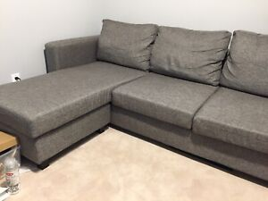 Grey L-Shaped Couch