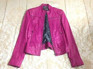 Never Worn! Pink Danier real leather jacket