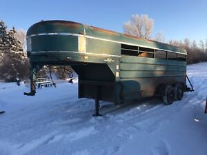 Forsale or trade 16' stock trailer/ flat deck