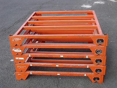 Flat Top Lid Cap Unit For Nestainer Stackable Portable Warehouse Storage Rack