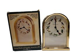 Howard Miller Desk/Table Quartz Clock Songbirds of North America Tested Works