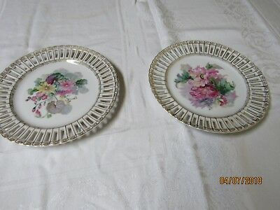 2 Vintage UCAGCO China Floral Decorative Plates Made in Occupied Japan for sale  Dallas