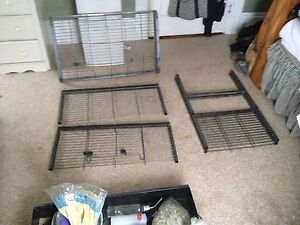 Large cage and assorted small pet items