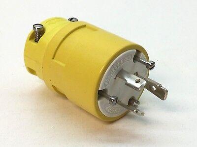 Woodhead 2647 Super Safeway Twist Lock Locking Plug Nema L5-20p 20a 125v