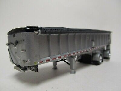 DCP 1/64 SCALE EAST END DUMP TRAILER WITH SILVER SIDES SILVER FRAME BLACK TARP