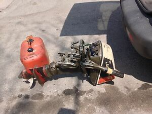 1976 6 hp Johnson outboard and gas tank