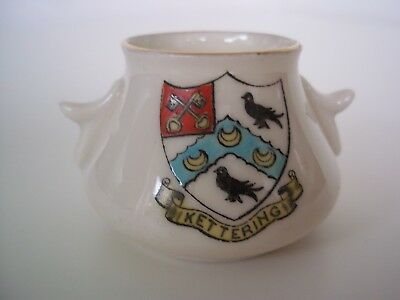 China Crested Ware Bowl (Kettering Coat of Arms)