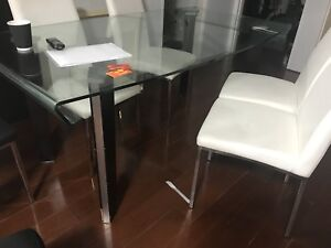 GLASS DINING TABLE (no chairs)