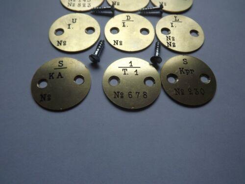 Swedish  Brass stock disc for Mauser  M38 M96 M94 M41 JJ