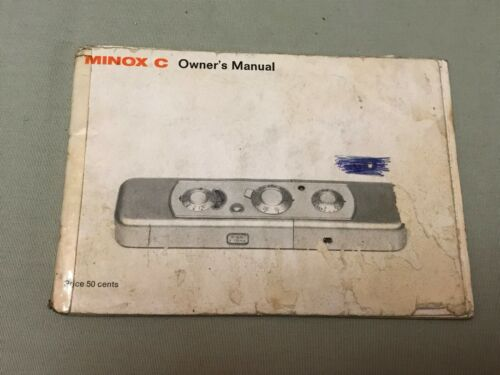 Minox C * Original * Camera INSTRUCTION Owner